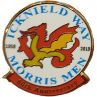 60th Anniversary Enamel Badge - Icknield Way Morris Men  LIMITED EDITION